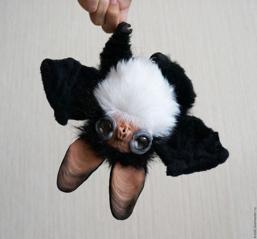 Куклы и игрушки ручной работы. Ярмарка Мастеров - ручная работа. Купить Летучий мышонок. Handmade. Черный, ночь, стеклянные глазки