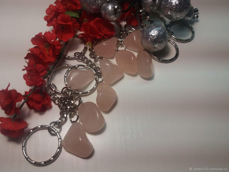 Брелок для ключей из розового Кварца