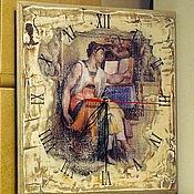 """Для дома и интерьера ручной работы. Ярмарка Мастеров - ручная работа Часы """"Эритрейская сибилла"""". Handmade."""