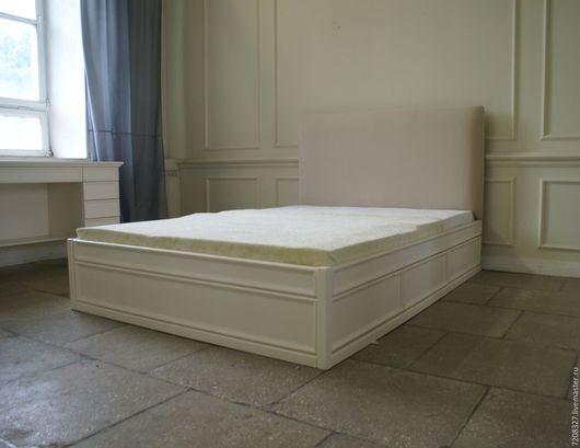 Мебель ручной работы. Ярмарка Мастеров - ручная работа. Купить Кровать с мягким изголовьем и выдвижными ящиками. Handmade. Кровать подиум