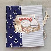 Фотоальбомы ручной работы. Ярмарка Мастеров - ручная работа Морской альбом для путешествий. Handmade.