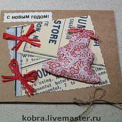 Открытки ручной работы. Ярмарка Мастеров - ручная работа новый год! открытки. Handmade.