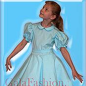 Работы для детей, ручной работы. Ярмарка Мастеров - ручная работа Детское голубое платье Голубка. Handmade.