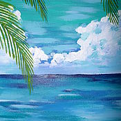 Картины и панно ручной работы. Ярмарка Мастеров - ручная работа Море. Притяжение воды.. Handmade.