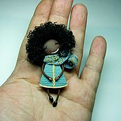 Украшения handmade. Livemaster - original item brooch - girl
