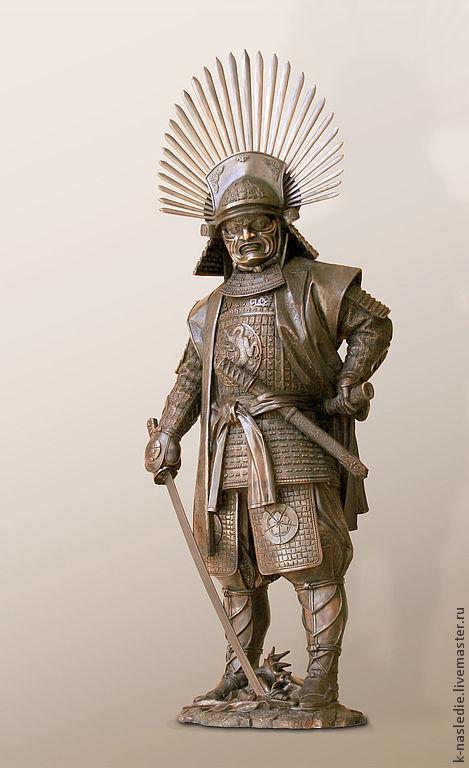 Элементы интерьера ручной работы. Ярмарка Мастеров - ручная работа. Купить Скульптура Самурай - Тоётоми Хидеёси (скульптура из бронзы, самурай). Handmade.