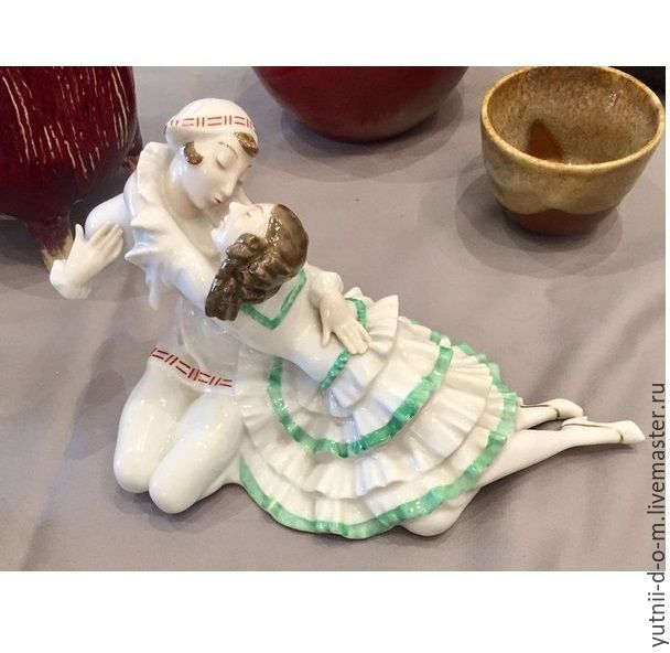 Antique Statuette couple Pierrot and pierrette Germany Hutchenreuther, Vintage interior, Moscow,  Фото №1