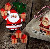 """Подарки к праздникам ручной работы. Ярмарка Мастеров - ручная работа Новогодний набор для игры """"Дед мороз"""" из дерева. Handmade."""