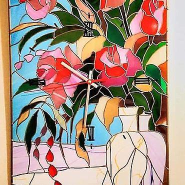 """Для дома и интерьера ручной работы. Ярмарка Мастеров - ручная работа Часы: """"Розовое утро"""". Handmade."""
