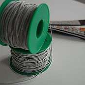 Нитки ручной работы. Ярмарка Мастеров - ручная работа Оловянно-серебряная нить для плетения украшений. Handmade.