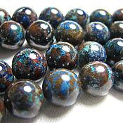 Материалы для творчества handmade. Livemaster - original item Chrysocolla natural bead 10 mm. Handmade.