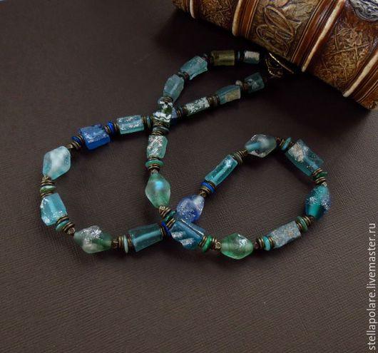 """Колье, бусы ручной работы. Ярмарка Мастеров - ручная работа. Купить Колье """"Roman glass"""", римское стекло, римское. Handmade."""