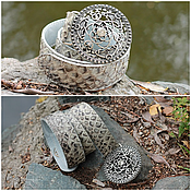 Аксессуары handmade. Livemaster - original item strap python skin natural grey stone. Handmade.