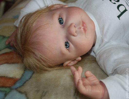 Куклы-младенцы и reborn ручной работы. Ярмарка Мастеров - ручная работа. Купить Сашенька. Кукла реборн.. Handmade. Белый, винил
