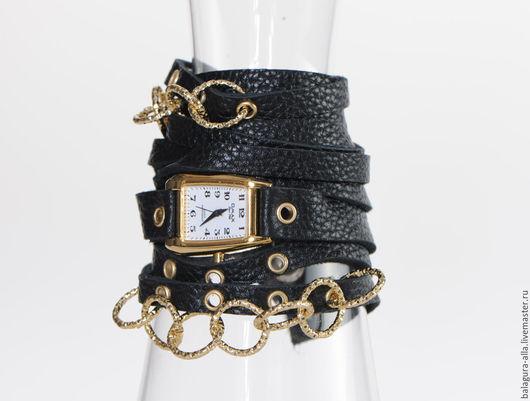 Часы ручной работы. Ярмарка Мастеров - ручная работа. Купить Часы с цепочкой. Handmade. Черный, часы ручной работы