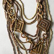 "Украшения handmade. Livemaster - original item Wooden necklace ""Confusion"". Handmade."
