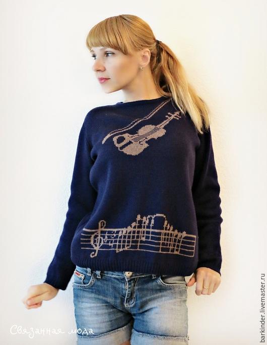 """Кофты и свитера ручной работы. Ярмарка Мастеров - ручная работа. Купить Вязаный  джемпер  """"Музыка во мне"""". Handmade. Разноцветный"""