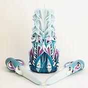 Свадебный салон ручной работы. Ярмарка Мастеров - ручная работа Свадебные свечи - резные свечи - семейный очаг - Морская вода. Handmade.