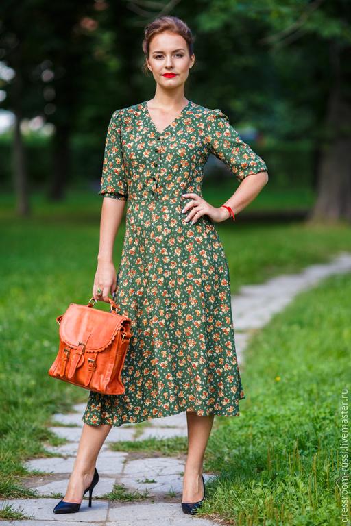 Платья ручной работы. Ярмарка Мастеров - ручная работа. Купить Женственное платье.. Handmade. Болотный, Платье нарядное, женская одежда