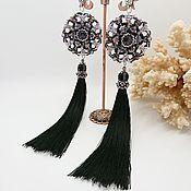 Украшения handmade. Livemaster - original item Earrings: Long Amethyst Tassels. Handmade.