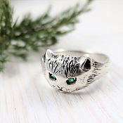 Украшения handmade. Livemaster - original item Ring Cat unisex. Handmade.