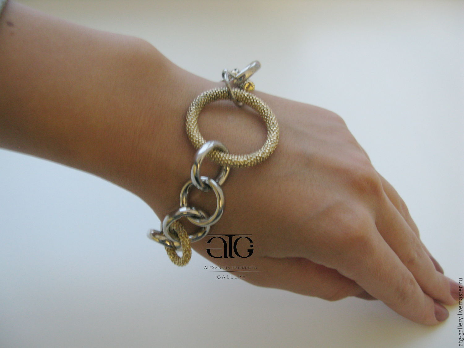 Golden silver bracelet  585, 925 hallmark – shop online on Livemaster with  shipping - B9GKXCOM | Moscow