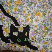 """Подушки ручной работы. Ярмарка Мастеров - ручная работа Подушка """" Крадущийся кот """". Handmade."""
