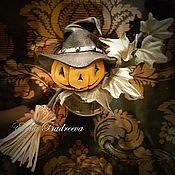 """Украшения ручной работы. Ярмарка Мастеров - ручная работа Брошь из кожи """"Halloween"""". Handmade."""