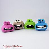 Игрушки из войлока Эмоушены (игрушка валяная, игрушка из шерсти)