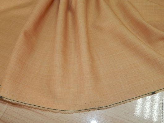 Шитье ручной работы. Ярмарка Мастеров - ручная работа. Купить Итальянская костюмно-плательная шерсть. Handmade. Желтый, шерстяная ткань