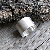 Украшения ручной работы. Ярмарка Мастеров - ручная работа Широкое кольцо из серебра в стиле Минимализм матовое. Handmade.