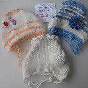 Работы для детей, handmade. Livemaster - original item Beanies from the wool of Angora rabbit-2. Handmade.