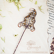 Украшения handmade. Livemaster - original item Copper hairpin hair barrette Leaf leaves nature plants. Handmade.