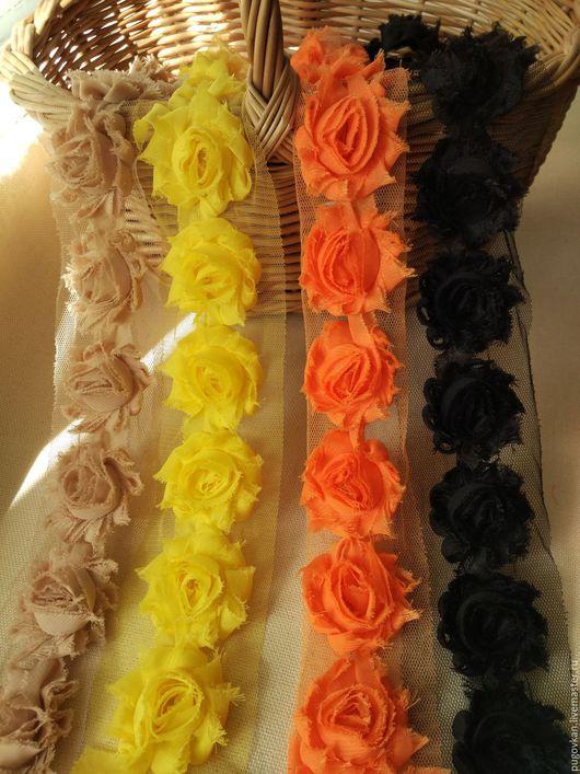 Шитье ручной работы. Ярмарка Мастеров - ручная работа. Купить Трехмерные розы Шебби Шик 4 см  № 9-12. Handmade.