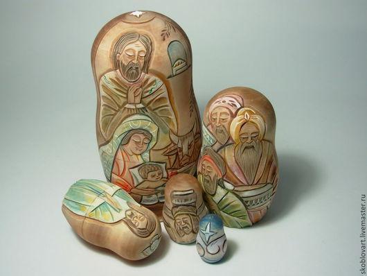"""Матрешки ручной работы. Ярмарка Мастеров - ручная работа. Купить Матрешка """"Рождество"""". Handmade. Рождество, Иисус Христос, рождественский подарок"""