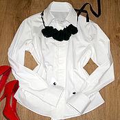 Блузки ручной работы. Ярмарка Мастеров - ручная работа Рубашка с манжетами на запонках. Handmade.