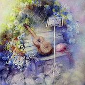 Картины и панно ручной работы. Ярмарка Мастеров - ручная работа Мелодия весны.. картина из шерсти. Handmade.