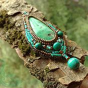 Украшения handmade. Livemaster - original item Bright pendant (pendant) Mint summer for gold chain with chrysoprase. Handmade.