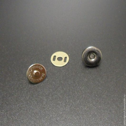 Другие виды рукоделия ручной работы. Ярмарка Мастеров - ручная работа. Купить Кнопка магнитная 14 мм, серебро. Handmade.