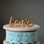 """Материалы для творчества ручной работы. Ярмарка Мастеров - ручная работа Слово """"love"""". Handmade."""