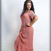 Одежда ручной работы. Ярмарка Мастеров - ручная работа Розовое платье. Handmade.