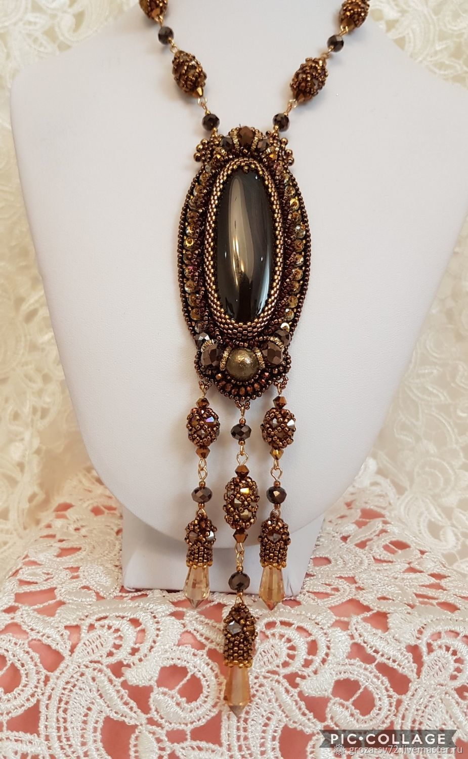 Beaded necklace ' Versailles-2', Necklace, Moscow,  Фото №1