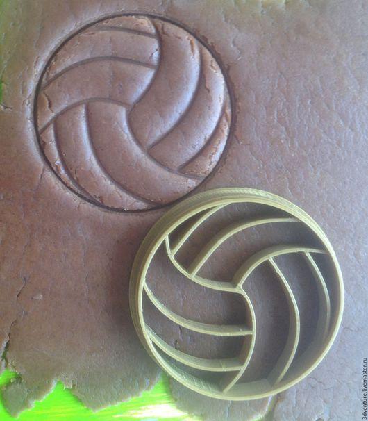 Кухня ручной работы. Ярмарка Мастеров - ручная работа. Купить Форма для пряников и печенья Воллейбольный мяч. Handmade. Разноцветный