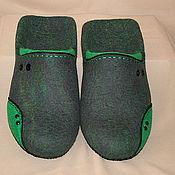Обувь ручной работы handmade. Livemaster - original item Men`s felted Slippers Elements. Handmade.