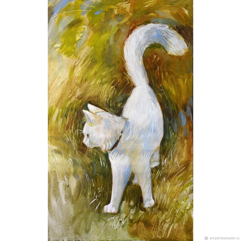 Белый кот 2, Картины, Москва,  Фото №1