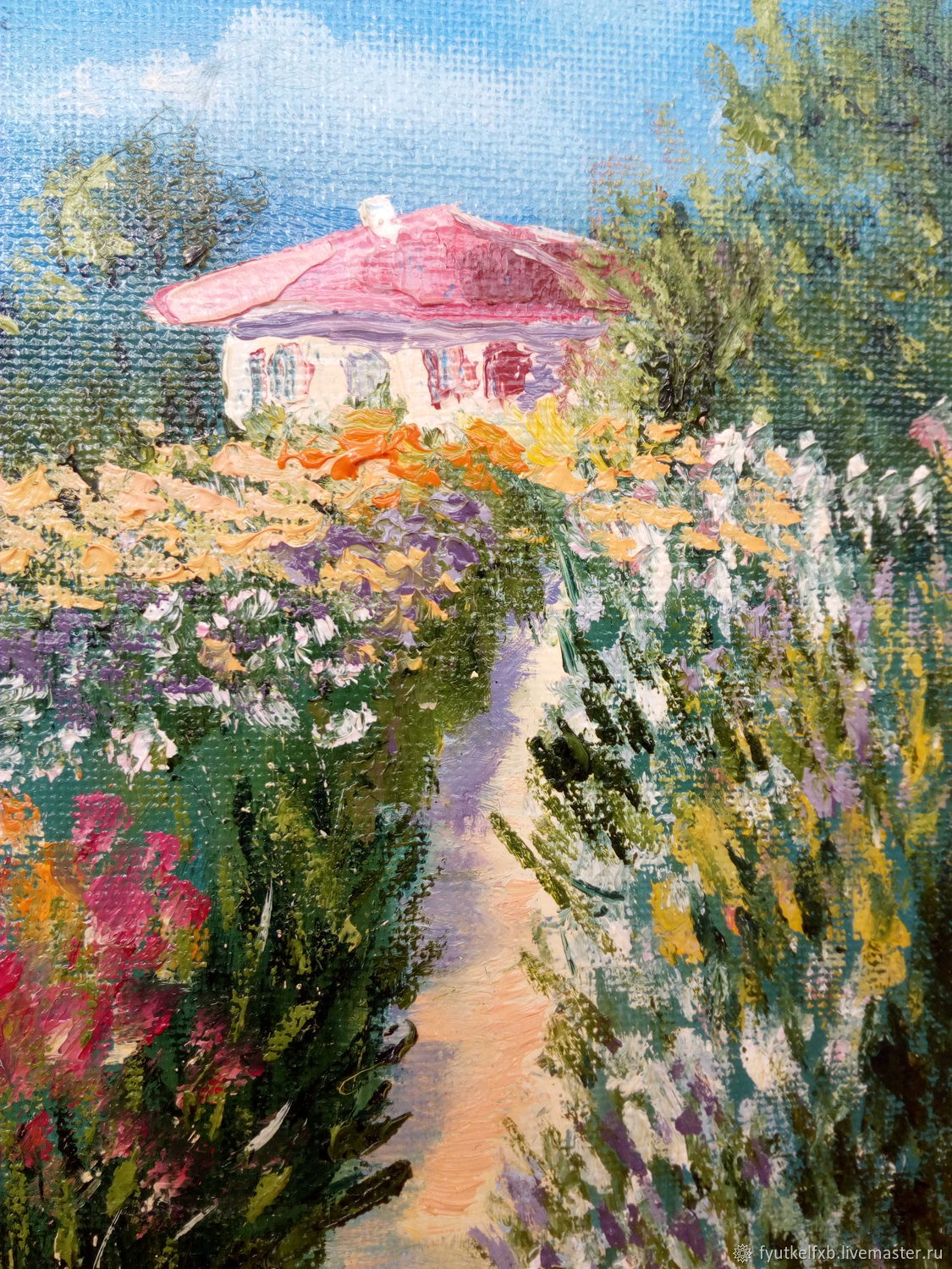 The picture of the 'Orange summer' (oil painting with flowers 30/20), Pictures, Moscow,  Фото №1
