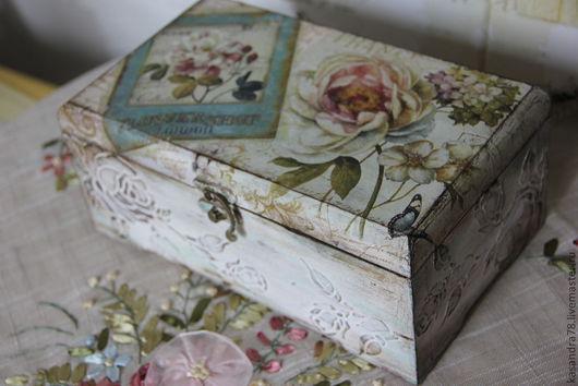 """Кухня ручной работы. Ярмарка Мастеров - ручная работа. Купить Чайная коробка """"Винтажная роза"""". Handmade. Чайная коробка"""