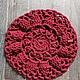 Текстиль, ковры ручной работы. Гигантовязанный коврик из 100% хлопка цвета Бордо. free Tree. Ярмарка Мастеров. Уютный интерьер