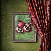 """Картины и панно ручной работы. Ярмарка Мастеров - ручная работа Декоративное панно """" Два граната """".. Handmade."""