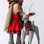 Куклы и игрушки ручной работы. Ярмарка Мастеров - ручная работа Зимняя сказка : Анна и Рудольф. Handmade.